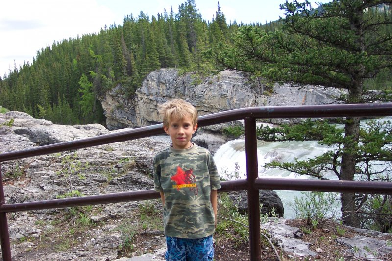 Will at Elbow Falls