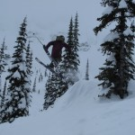 Alex Urquhart and his WillPower skis!